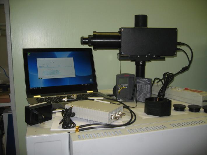 Прибор бестрассовой проверки лазерных дальномеров в комплекте