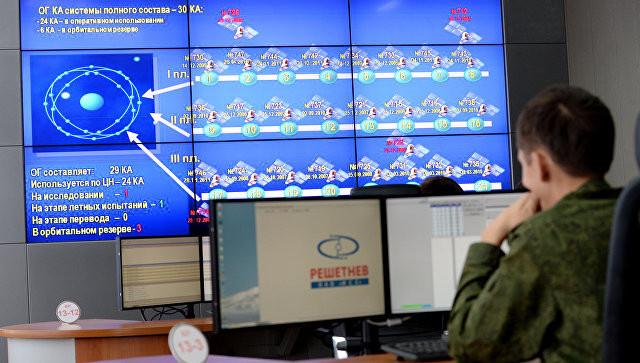 Командный пункт управления ГЛОНАСС в испытательном космическом центре имени Г.С.Титова