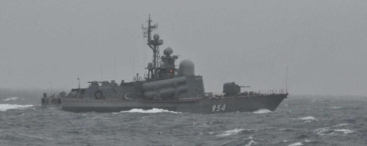 Корабли Тихоокеанского флота у берегов Японии