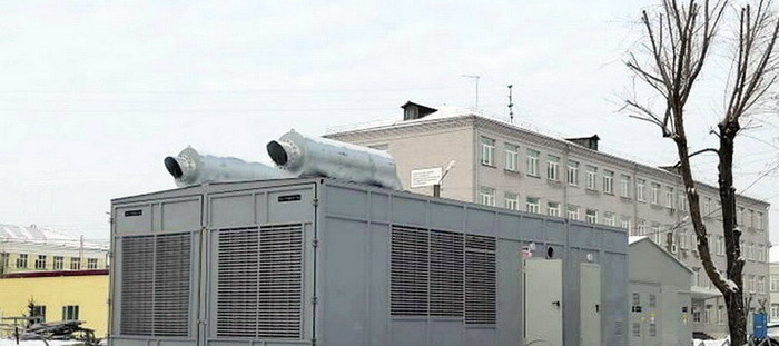 Комплекс резервного энергоснабжения на базе дизельных электростанций ТСС для крупной больницы Красноярска