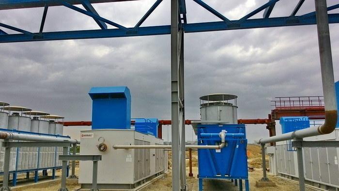 Дожимная компрессорная станция топливного газа на площадке Грозненской ТЭС