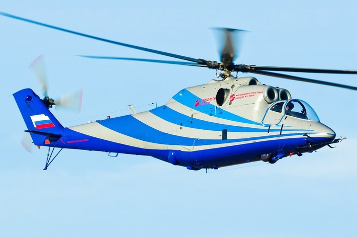Летающую лабораторию на базе Ми-24 разогнали до 400 км/ч