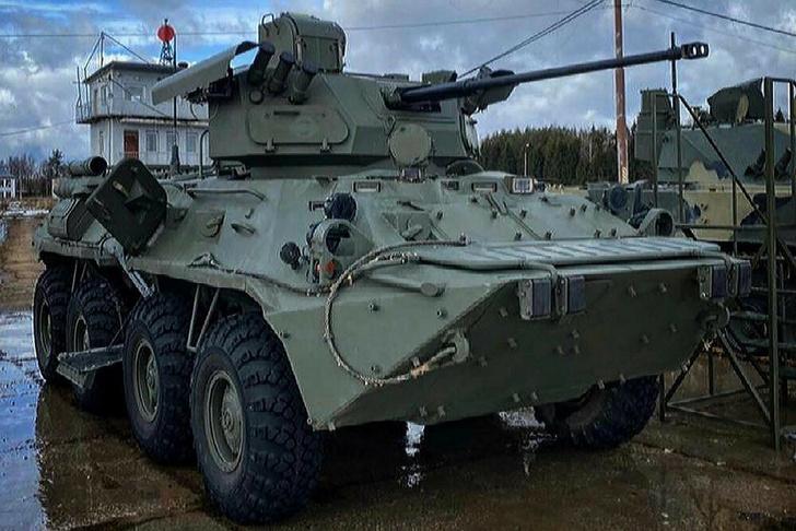 Новый боевой модуль БТР-БМ представили на полигоне в Подмосковье