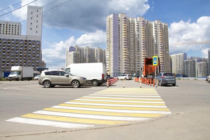 Химки, улица Молодежная после установки
