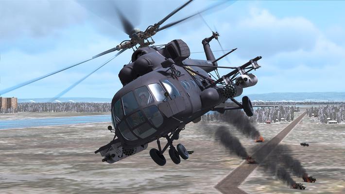 Ми-8 в атаке.