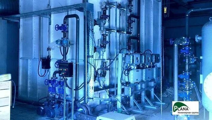 Резервуар чистой воды с блоком УФ-обеззараживания