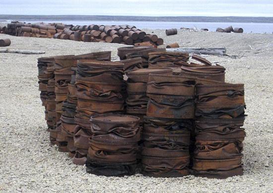 Эко взвод СФ перевыполнил план по сбору металлолома на острове Котельный