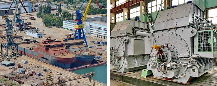 Кабелеукладчики на верфи. Комплект гребных электродвигателей «Русэлпром» для кабельного судна «Вятка» проекта 15310.