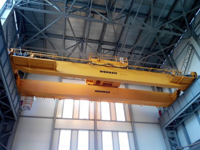 Двухбалочный мостовой кран WERKER грузоподъемностью 125 тонн
