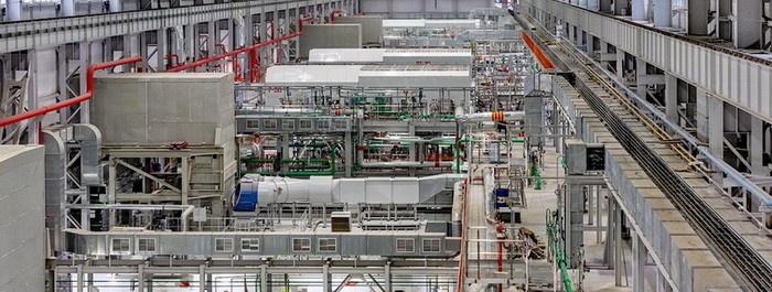 Машинный зал новой электростанции