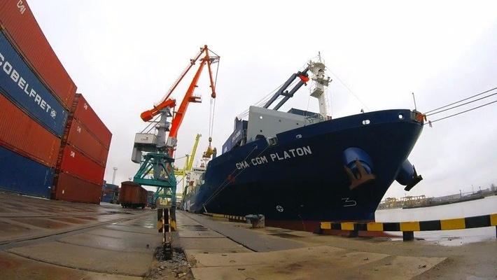 Портальные краны «Витязь» позволили увеличить интенсивность перевалки грузов на территории ООО «Морской рыбный порт»