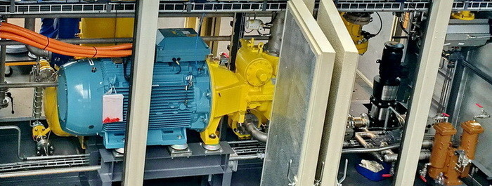 Дожимная компрессорная установка топливного газа