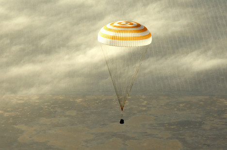 Три члена экипажа МКС вернулись на Землю