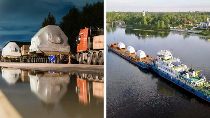 Транспортировка гигантов – ГЭД весом 300 тонн – это целая спецоперация