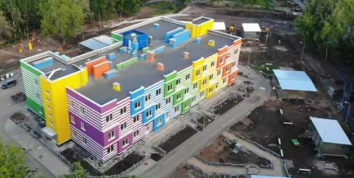 детский сад в процессе строительства