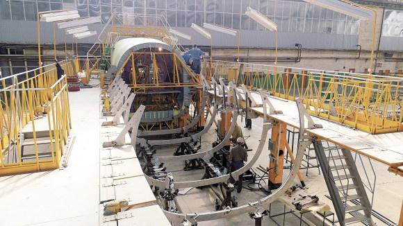 Хвостовой отсек первого воронежского самолёта Ил-112