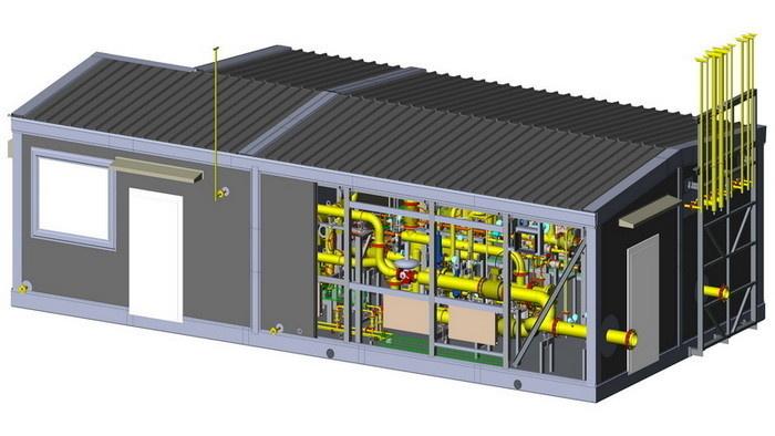 Макет установки подготовки топливного газа в сборе