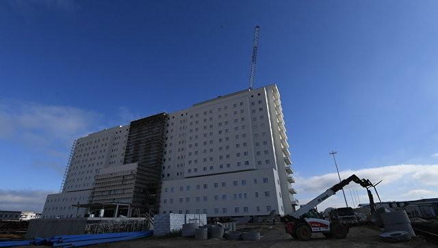 Ход строительства многопрофильного медицинского центра в Симферополе