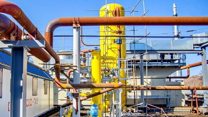 Газовый ресивер в составе системы газоподготовки