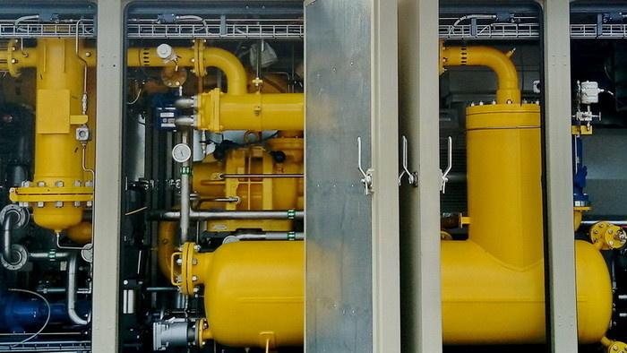 Технологический отсек газокомпрессорной установки