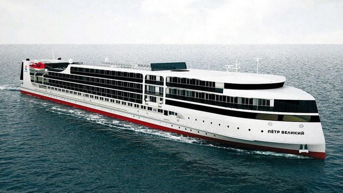 Круизный лайнер «Петр Великий» проекта PV300VD (макет)