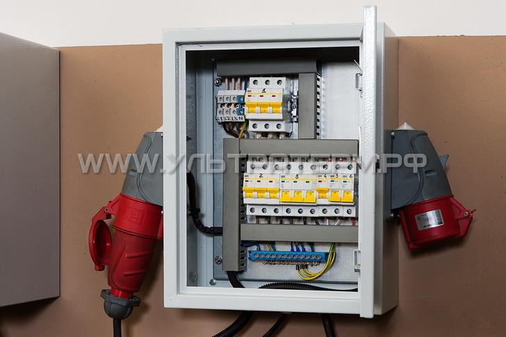 Электрический шкаф для подключения станка и вспомогательного оборудования (идет в комплекте со станком)