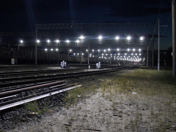 Освещение железнодорожной станции Таксимо (Восточно-Сибирская железная дорога)