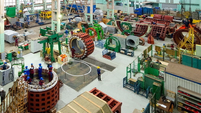 Одна из производственных площадок Ленинградского электромашиностроительного завода