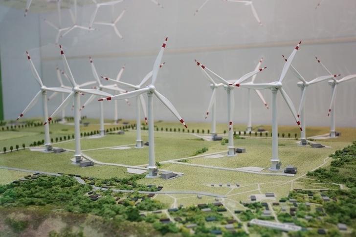 Модель первого ветропарка в Ульяновской области