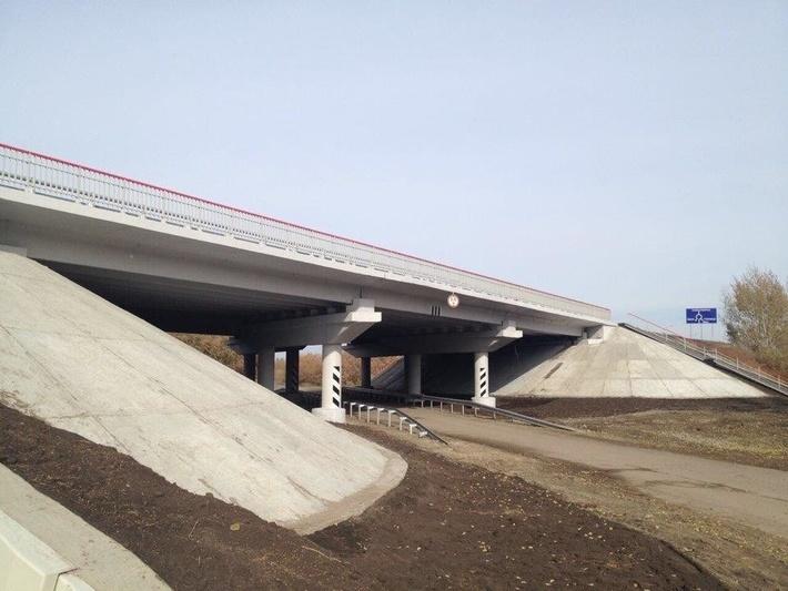 путепровод на Южном обходе Омска на трассе Р-254