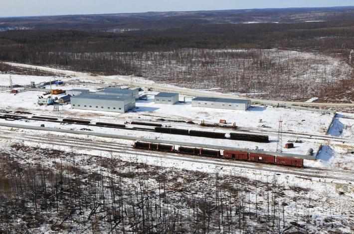 Строительство железной дороги до Эльги: вид сверху