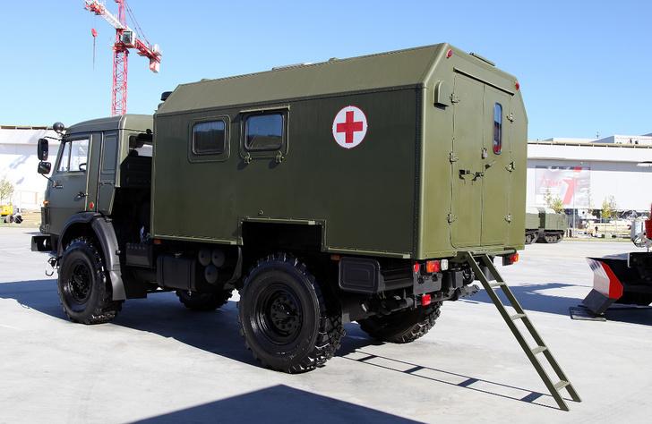 Санитарный автомобиль на базе КамАЗ-4350