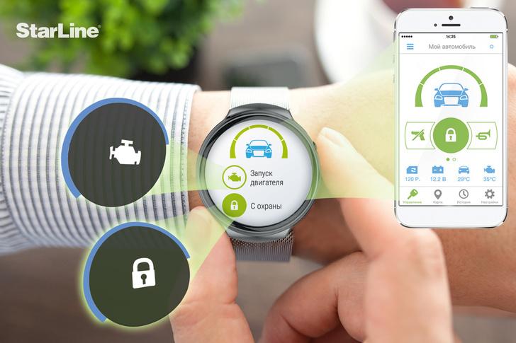 Умное приложение StarLine ― для умных часов!