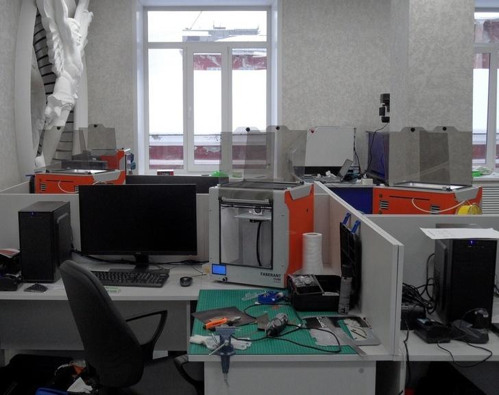 3D-принтеры Faberant Cube в одном из колледжей г. Новосибирска.