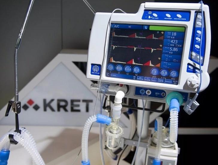 КРЭТ впервые поставил новейшие аппараты ИВЛ в российские больницы