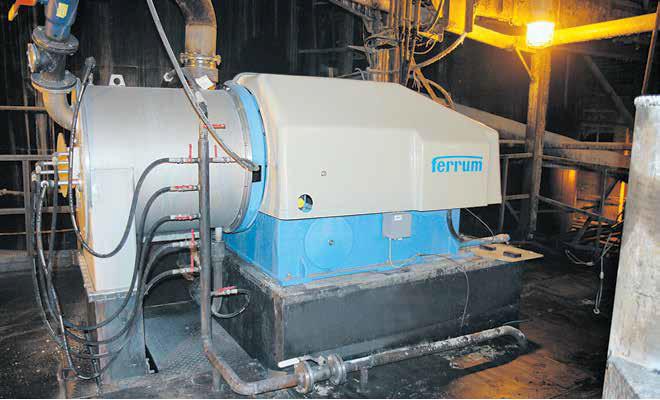Новая центрифуга Ferrum P60/2 производительностью 10 тонн соды в час