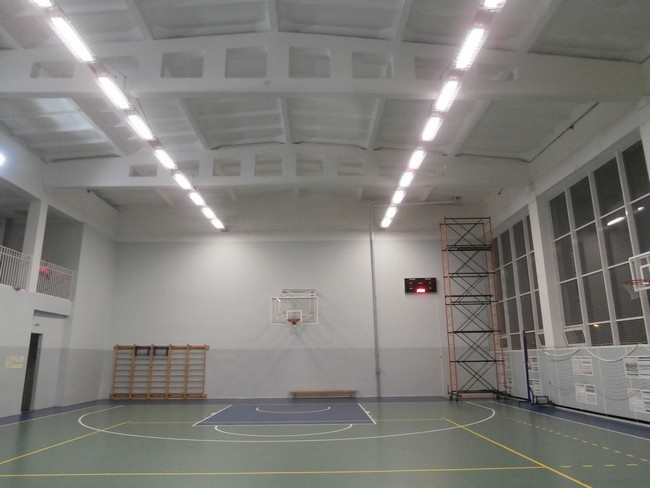 Модернизация освещения спортзала