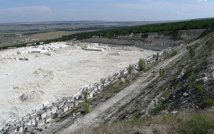 Карьер блочного камня рядом с альминским заводом