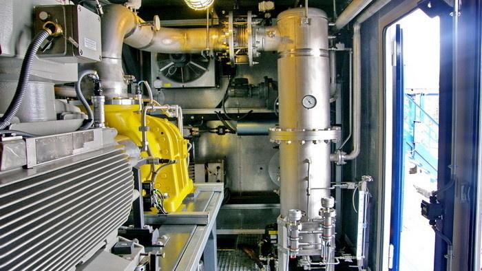 Технологический отсек (машинный зал) вакуумной КС
