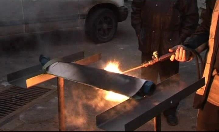 Защита тормозного шланга от внешнего пламени (натурные испытания).