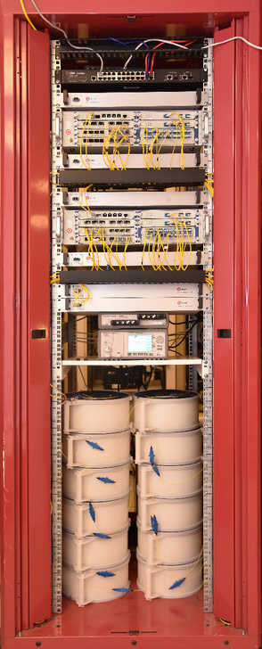 Рис. 1: Общий вид лабораторного стенда xWDM QTECH.