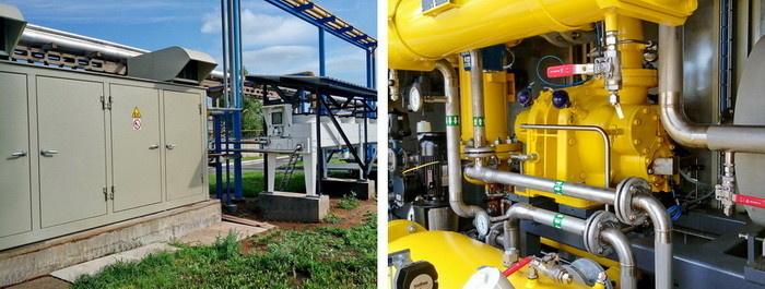 Газокомпрессорная установка для комплекса испытаний газотурбинных двигателей