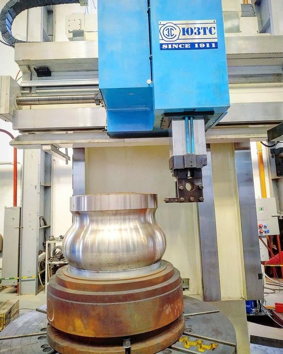 Испытания токарно-карусельного станка с ЧПУ с автоматической сменой инструментов в магазине
