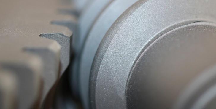 Внешний вид покрытия с дисульфидом молибдена на деталях червячной пары