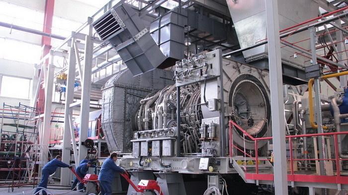 Установка газовой турбины на испытательный стенд