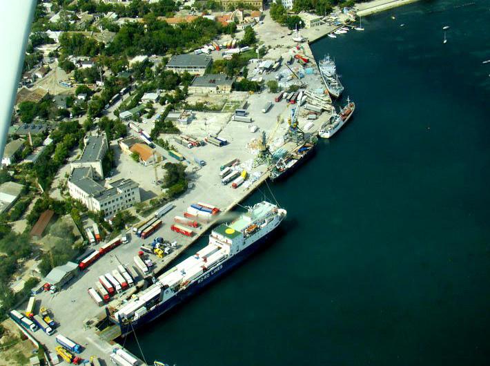 Порт Евпатории с высоты птичьего полета