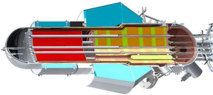 Разрез реактора ТЭМ в версии технического проекта. (с) НИКИЭТ.