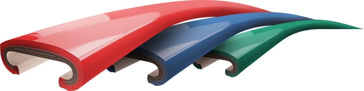 Эскалаторные цветные поручни