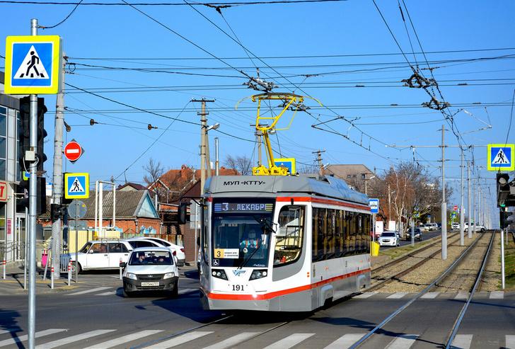 Краснодар, трамвайный вагон № 191, впервые вышедший на линию 07.12.2020 г.