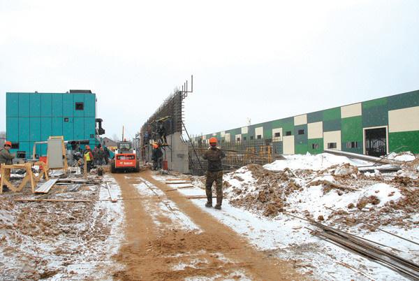 строительство завода апрель 2017 г.